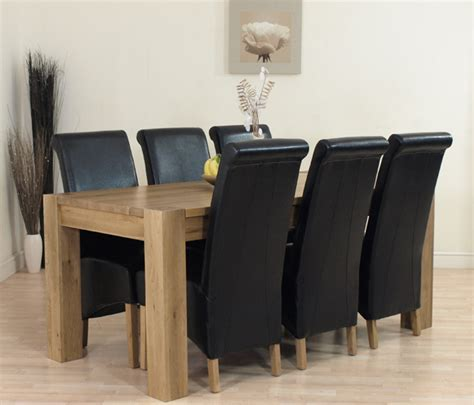 Ebay Dining Table And 6 Chairs Ebay Uk Dining Table And 6 Chairs Chunky Solid Oak Dining Table With 6 Or 8 Leather Chairs