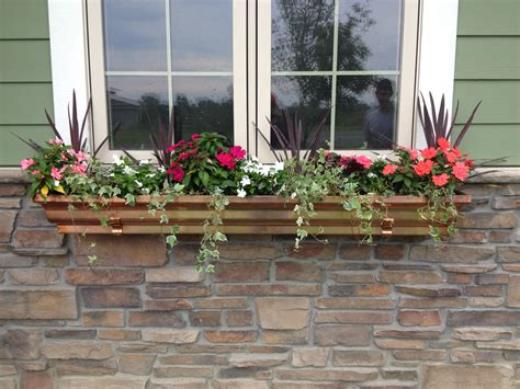 window planter using gutters and window planter boxes 187 home decorations insight