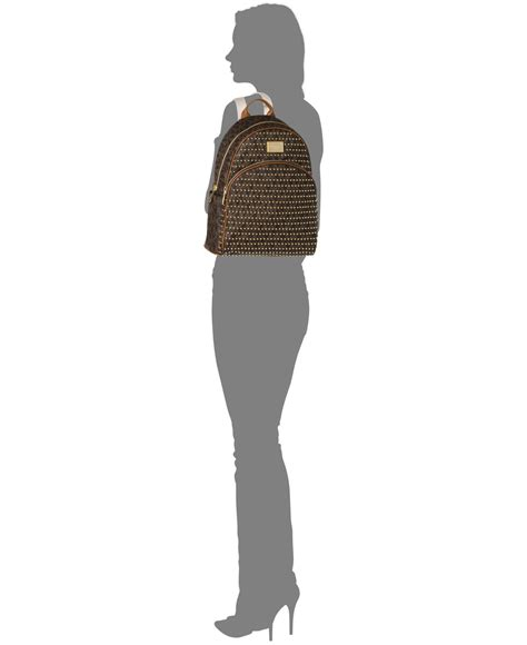 Backpack Set 4in One Brown Chips lyst michael kors michael jet set item small studded backpack in brown