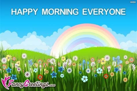 happy to everyone happy morning everyone
