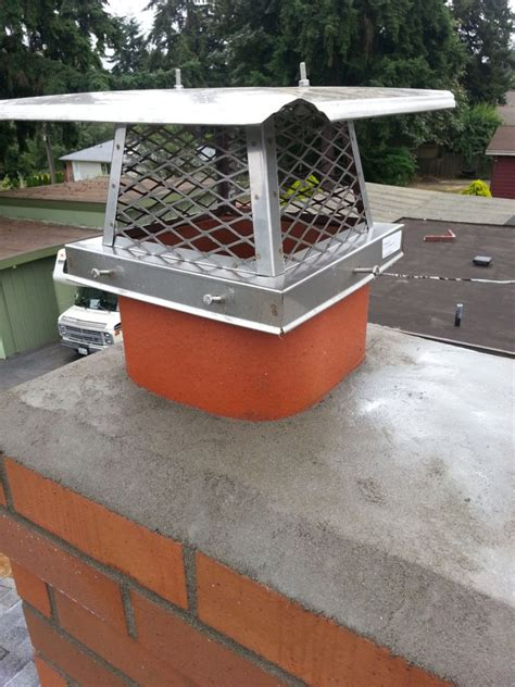 finished chimney cap seattle chimney and fireplace repair