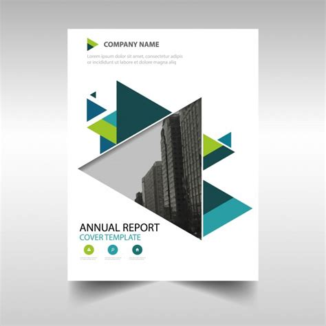 Free Report Cover Templates Green Creative Annual Report Book Cover Template Vector