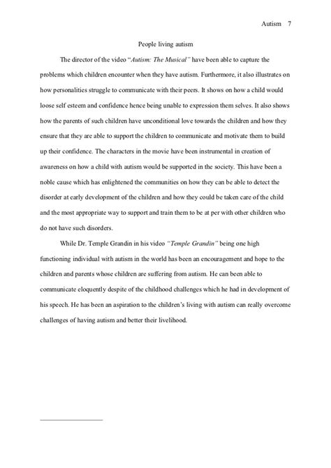 Vaccines And Autism Argumentative Essay by Essay About Autism Essay On Autism Essay On Autism