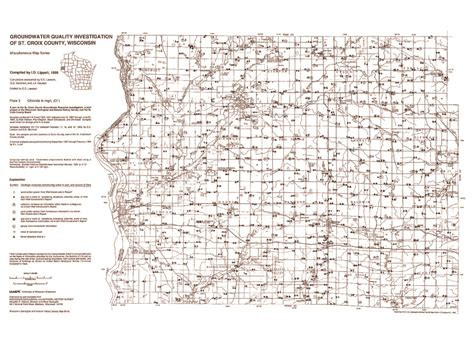 St Croix County Records Wisconsin Geological History Survey 187 Groundwater Quality Investigation Of