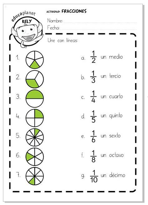 figuras geometricas fracciones ficha imprimible para repasar las primeras fracciones una
