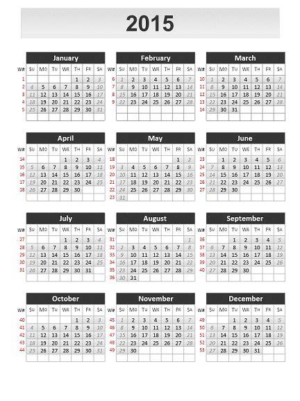 Simple Calendar 2015 For Powerpoint Powerpoint Calendar Template 2015