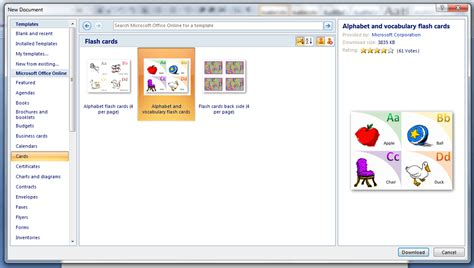 how do you make business cards on microsoft word 2007