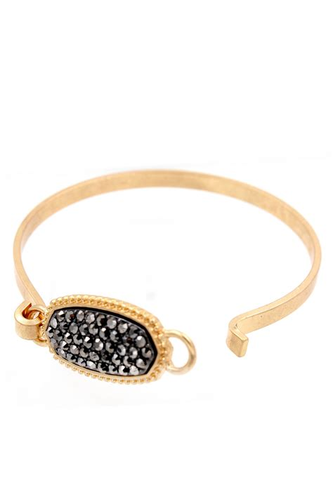 Oval Brecelet pave oval bangle bracelet bracelets