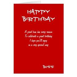 happy birthday boss greeting cards zazzle