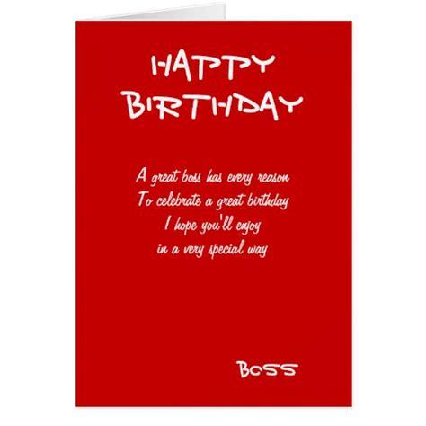 imagenes happy birthday boss happy birthday boss greeting cards zazzle
