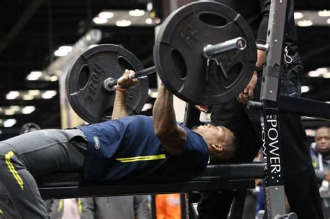 most bench press nfl combine langley confident as nfl combine workouts begin beaumont