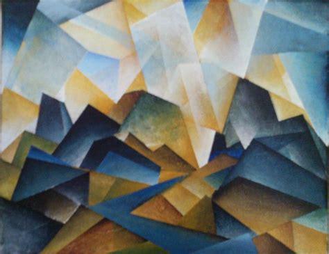 cubist landscape paintings cubist landscape by brandon allebach