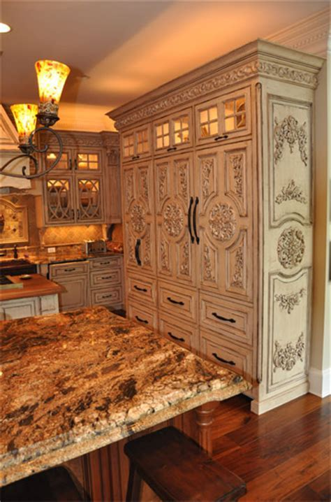 French Country Inspired Rococo Kitchen   Cabinets by Graber
