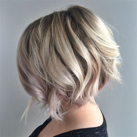 textured bob haircuts with highlights blonde textured bob with undercut platinum blonde blonde