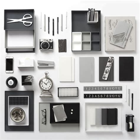new poppin dark gray desk accessories cool and modern