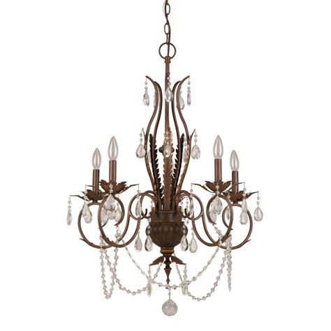 hton bay 5 light bronze chandelier bvb9115a