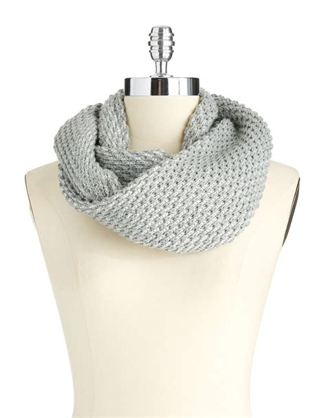 calvin klein popcorn stitched infinity looped scarf in
