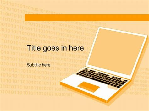 powerpoint template computer computer orange