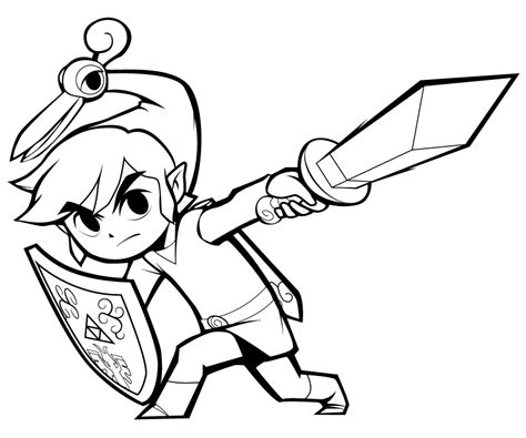 toon link free coloring pages