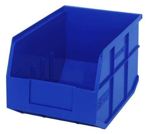 plastic stackable shelf storage bin ssb423 12 quot x 8 1 4