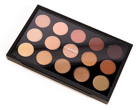Mac Pallete mac eyeshadow x 15 warm neutral palette review photos