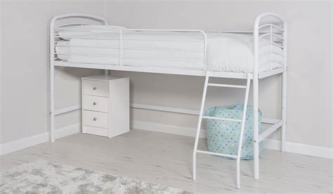Asda High Sleeper by George Home Metal Mid Sleeper Bed White Beds George