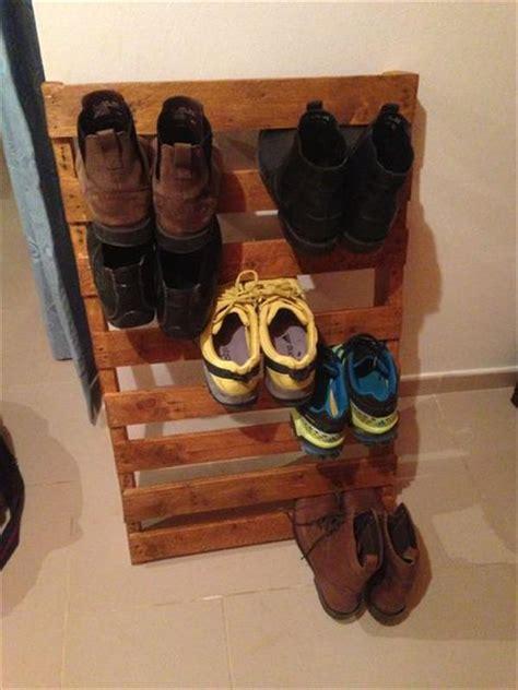 recycled wooden pallet coat racks  shoe racks pallets