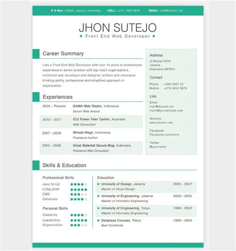 Cool Resume Templates by Best 25 Resume Templates Ideas On Layout Cv