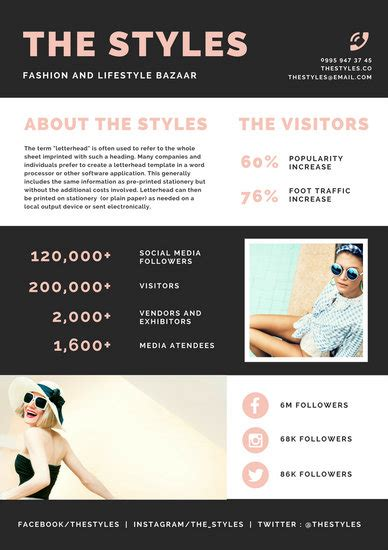 Customize 3 877 Media Kit Templates Online Canva Instagram Media Kit Template
