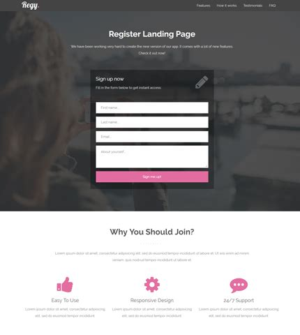 Azmind Wordpress Themes Bootstrap Templates Web Design Resources Part 2 Registration Web Page Template
