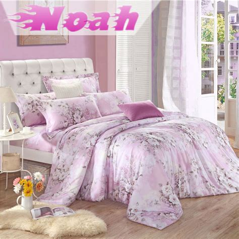 brand 100 tencel silk girls pink king size comforter sets