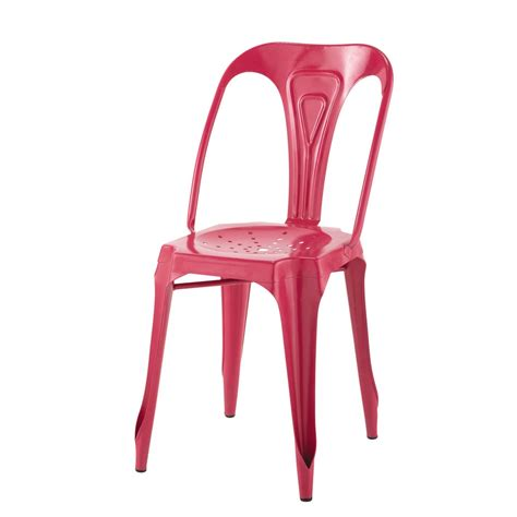 Pink Metal Chair by Metal Industrial Chair In Pink Multipl S Maisons Du Monde