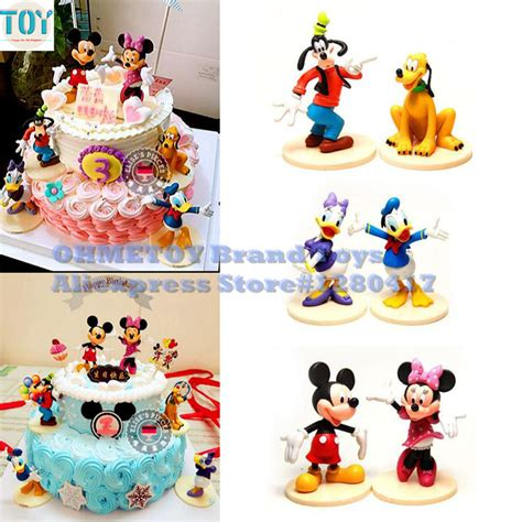 pcs mickey mouse clubhouse minnie goofy figures playsets toys cake topper mini action