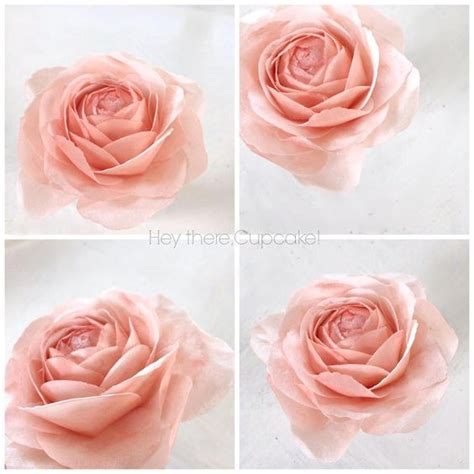 How To Make Wafer Paper Roses - wafer flowers tuto flower