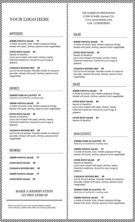 template for food menu design templates menu templates wedding menu food