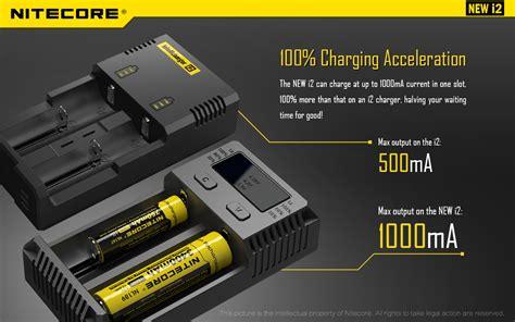 Charger Nitecore I2 By Techno Vape nitecore new i2 18650 battery charger 18650 battery store