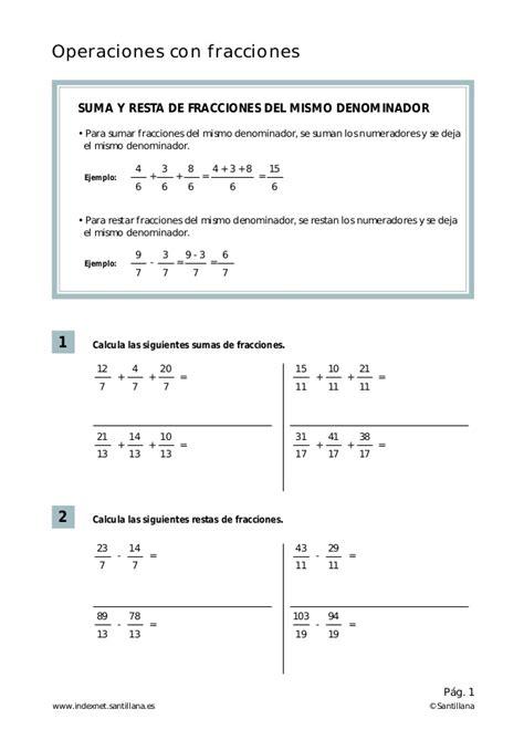 libro fichas de practicas del 6 186 primaria operaciones con fracciones