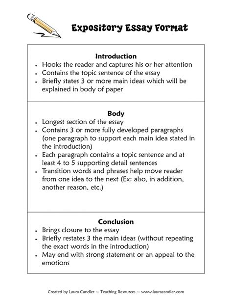 Guidelines To Writing An Essay by Expository Essay Format Format For Expository Essays