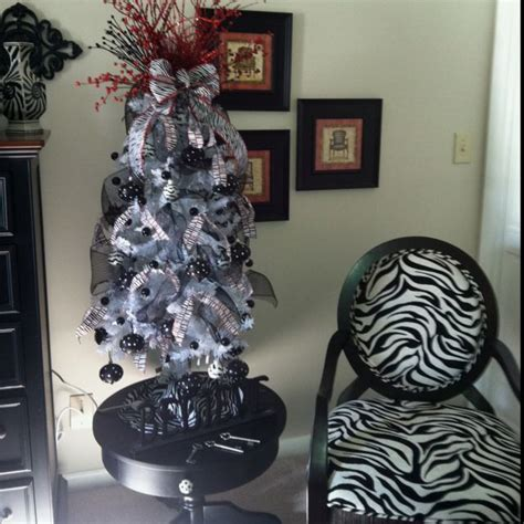 a zebra christmas tree christmas pinterest