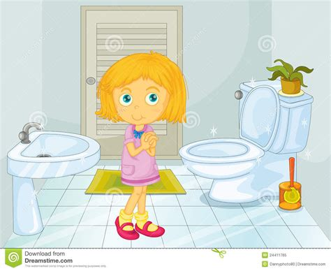 bathroom girl video girl in the bathroom royalty free stock photo image