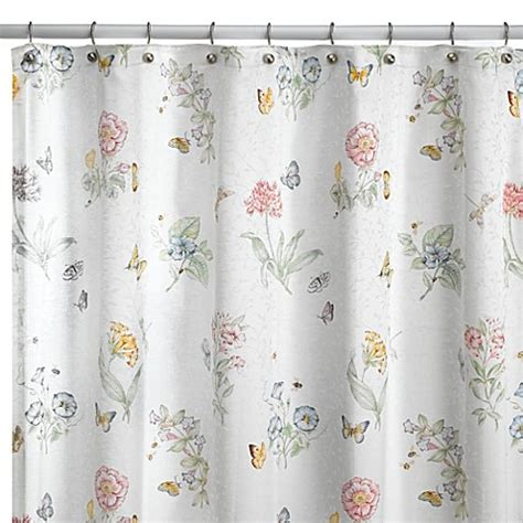 Lenox 174 Butterfly Meadow 174 72 Inch X 72 Inch Fabric Shower