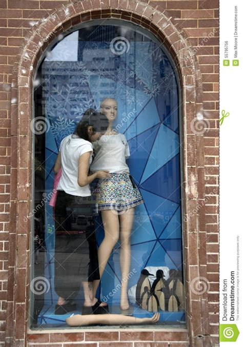 What Is A Window Dresser by Window Dressing China Editorial Photo Image 55795756