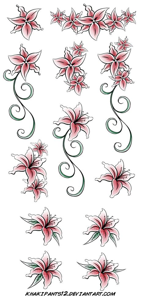 stargazer lily tattoos design best 25 stargazer tattoos ideas on