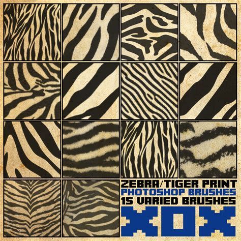 zebra pattern psd zebra tiger photoshop brushes free photoshop brushes at