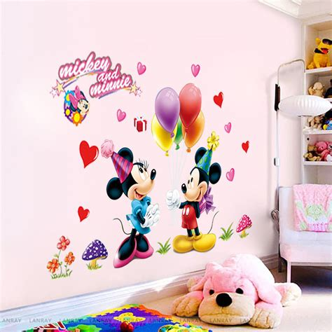 Mickey Mouse Nursery Decor Mickey Minnie Mouse Decals Wall Sticker Nursery Room Decor P6 Ebay