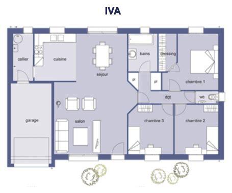plan de maison 100m2 3 chambres plan maison 80m2 3 chambres