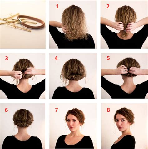easy hairstyles for short hair tutorial step by step youtube easy step by step hairstyles for medium hair