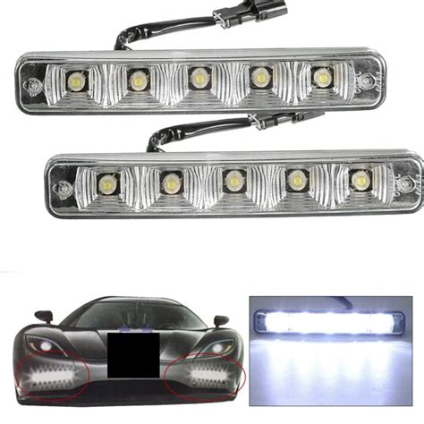 led boat bumper lights 2pcs 10w dc 12v led daytime driving running bumper fog