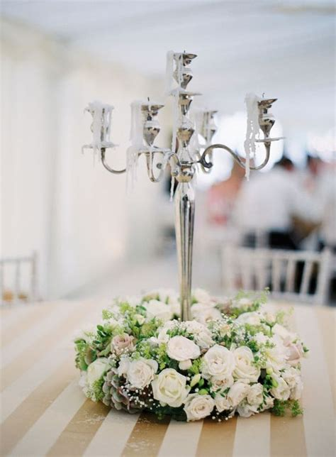 candelabra centerpieces with flowers candelabra centerpieces and wreaths on