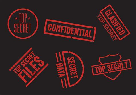 secret free top secret st vector set free vector